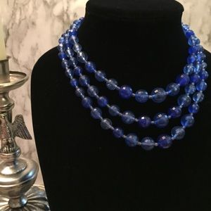 Vintage Faceted Bead 3-Strand Necklace H09